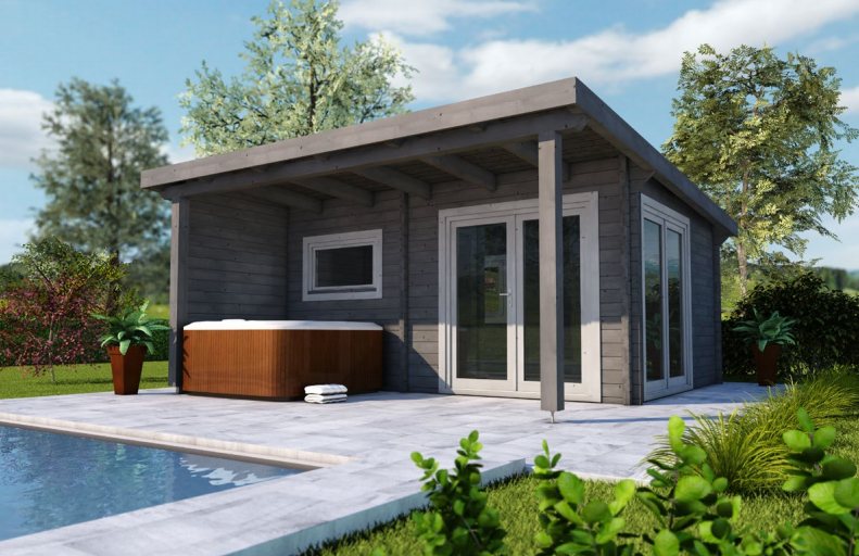 au ensauna f r ihren garten outdoor saunen von infraworld. Black Bedroom Furniture Sets. Home Design Ideas